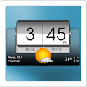 3D Flip clock & world weather icon