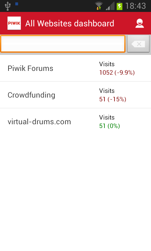 Piwik Mobile 2 - Web Analytics- screenshot