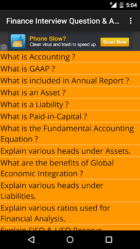 Finance Interview Question Ans