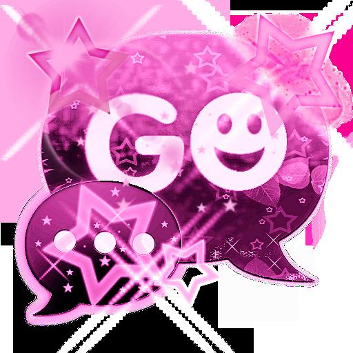 GO SMS Pink Dark Star Buy LOGO-APP點子