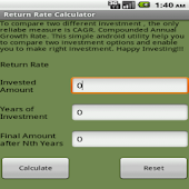 Return Rate (CAGR) Calculator