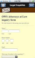 Screenshot of OWS Attorneys at Law