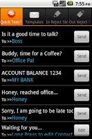 Screenshot of QText: Reject Text & Blacklist