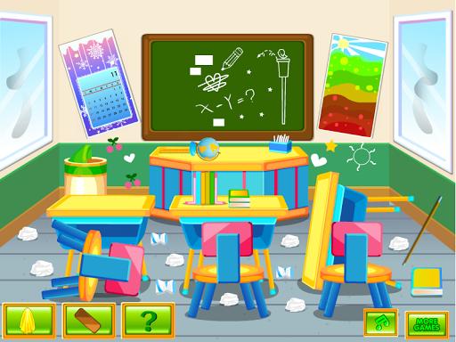 教室里洗清洗游戏