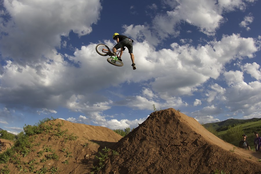Steppin' Over Clouds by Logan Mccarthy - Sports & Fitness Cycling ( steamboat, biking, bmx, colorado, contest, dirt jump, bike, photo, camera, jump, steamboat springs )