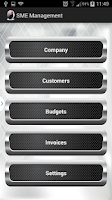 Screenshot of SME Management