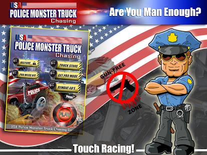 USA Police Monster truck