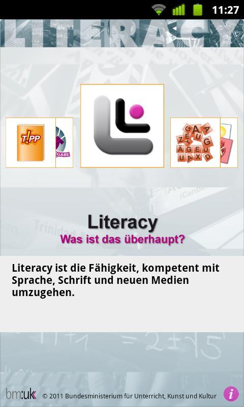Literacy- screenshot