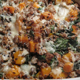 Wild Rice and Roasted Butternut Squash Casserole.