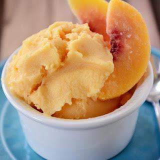 Peach Frozen Yogurt.