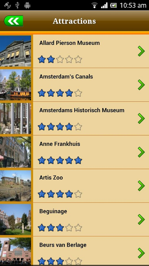 Amsterdam Offline Travel Guide- screenshot