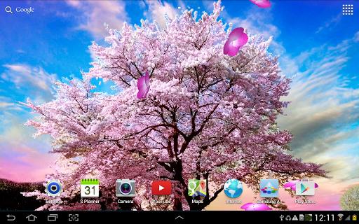 【免費個人化App】Sakura Garden Live Wallpaper-APP點子
