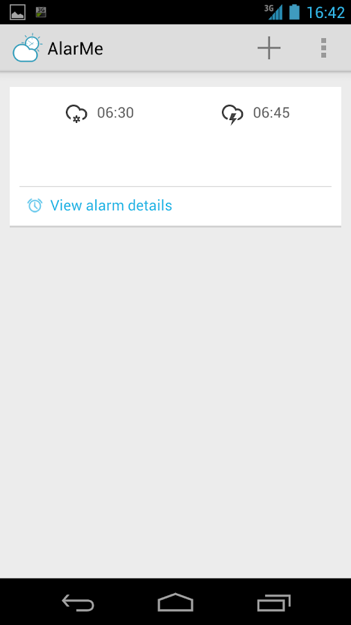 AlarMe - weather aware alarm- screenshot