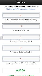 UPS Battery Run Time Estimator Screenshot 4