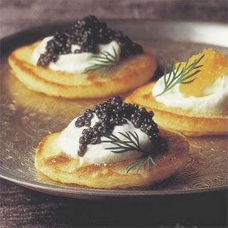 Blini with Caviar and Crème Fraîche