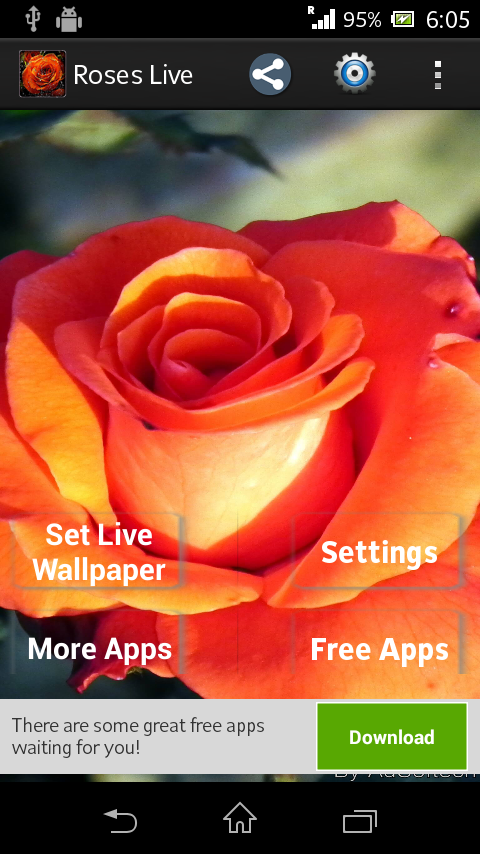 Beautiful roses live wallpaper android apps on google play for Decor live beautiful app