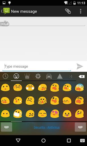 Emoji Keyboard - Black Flat