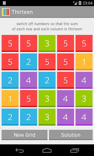 Thirteen maze game