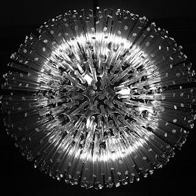 Lights by Adi Drnda - Black & White Abstract