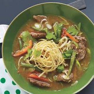 Pepper Steak Noodle Soup.