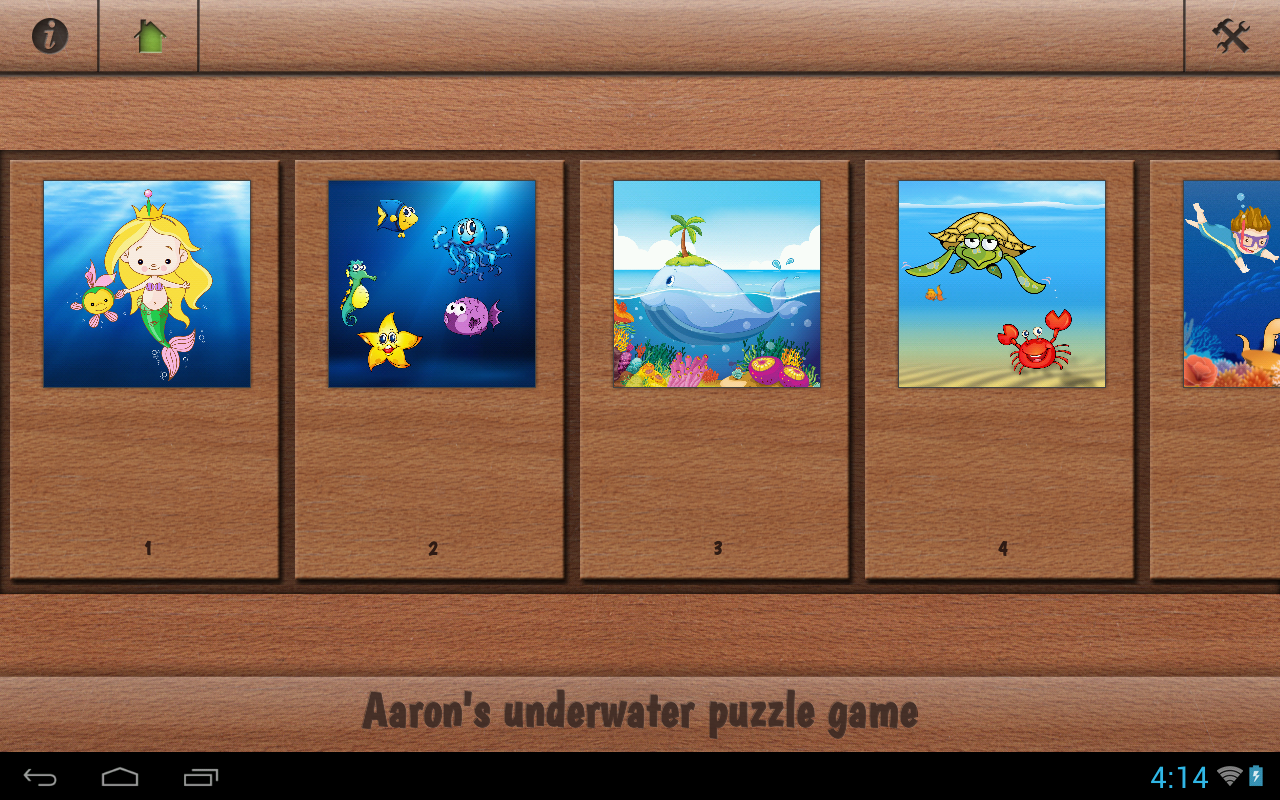 Aaron's kids underwater puzzle- screenshot