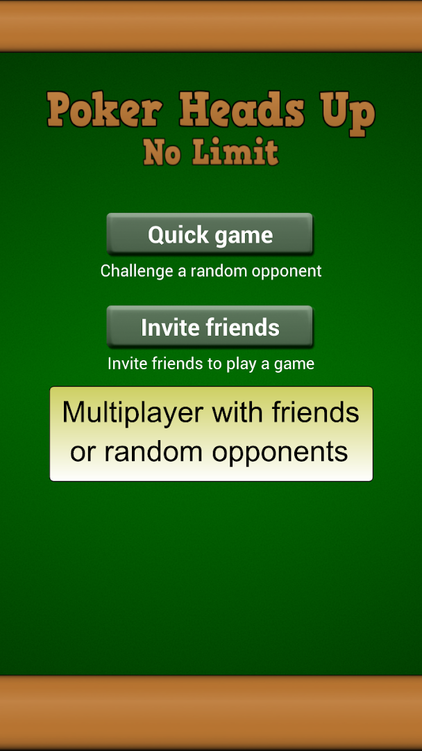 Play poker with your friends online