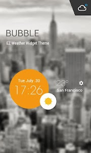Weather Clock Cool Widget screenshot 0