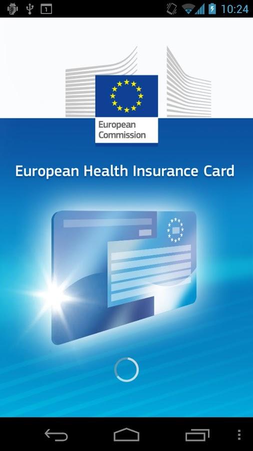 European Health Insurance Card - screenshot
