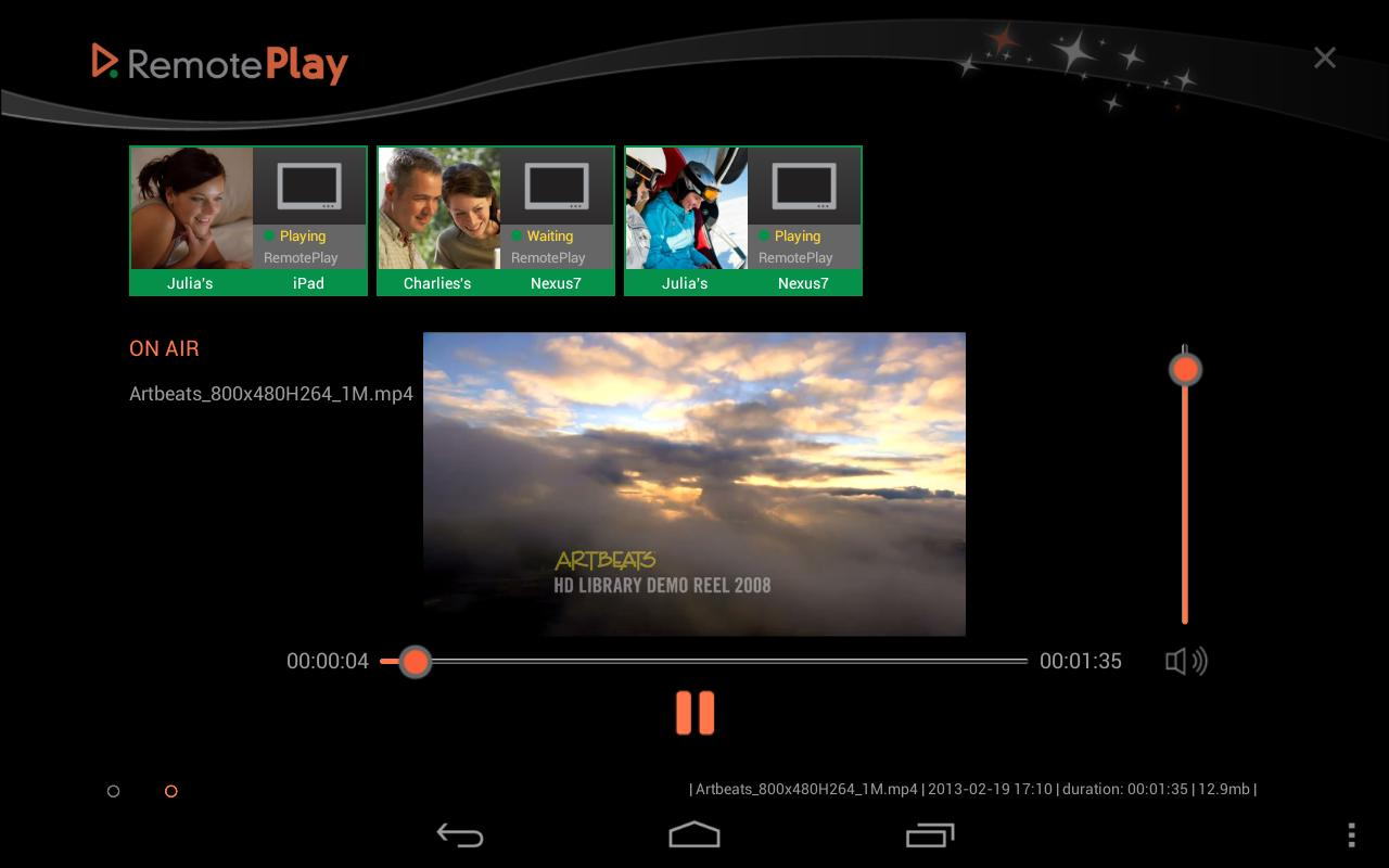 RemotePlay for Tablets - screenshot
