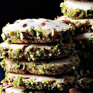 Cherry Pistachio Slice-and-Bake Cookies
