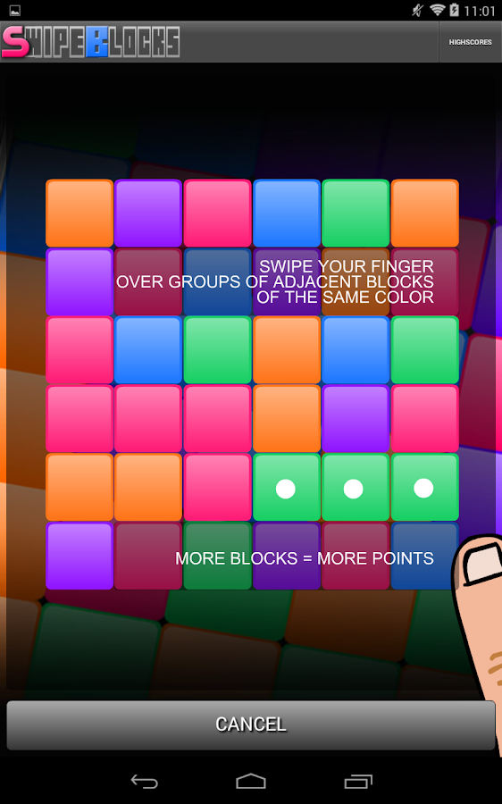 Swipe Blocks- screenshot