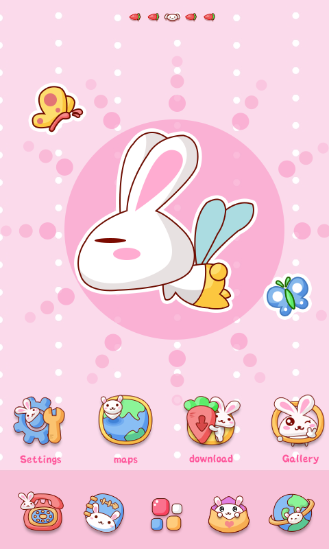 Rabbit GO Launcher Theme - screenshot