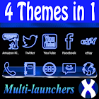 Blue Neon Complete 4 Themes icon