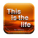 This is the life go theme logo
