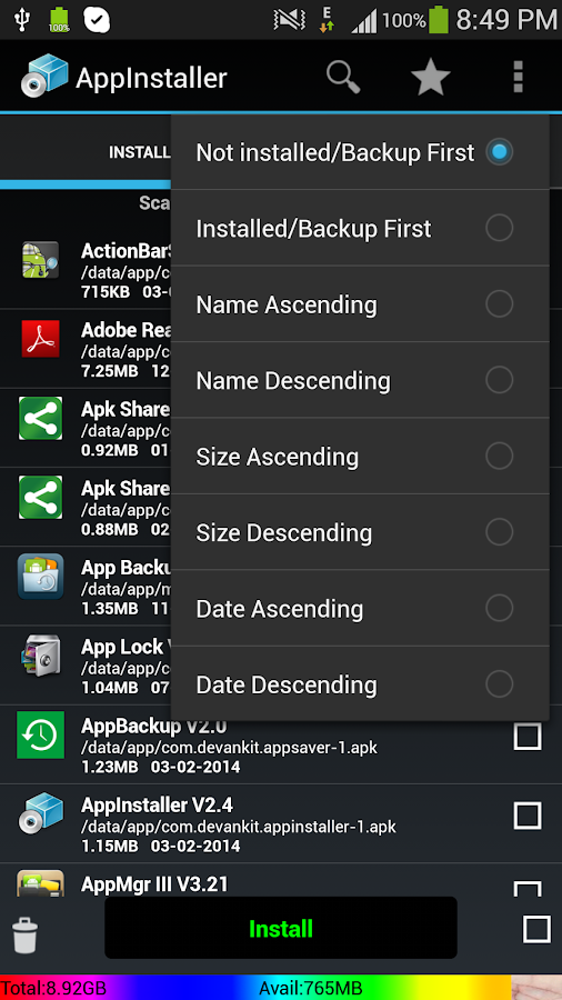 Apk installer For Android: captura de pantalla