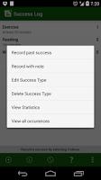Screenshot of Success Log: Goal Tracker