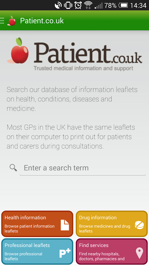 Patient.info- screenshot