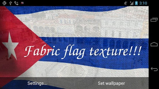 3D Cuba Flag Live Wallpaper- screenshot thumbnail