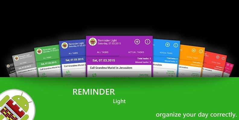 Reminder Light: Your оrganizer - screenshot
