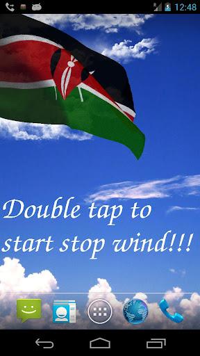 3D Kenya Flag Live Wallpaper +