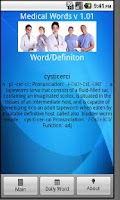Screenshot of Medical Words