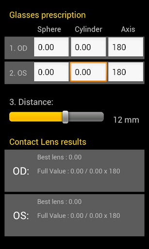 Contact Lens Calculator