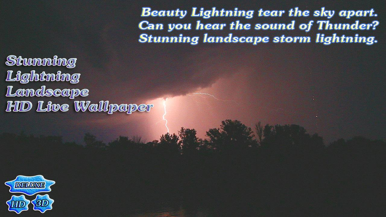 Stunning Lightning Landscape- screenshot