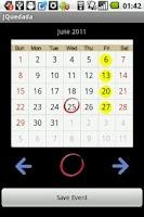 Screenshot of Meeting Date