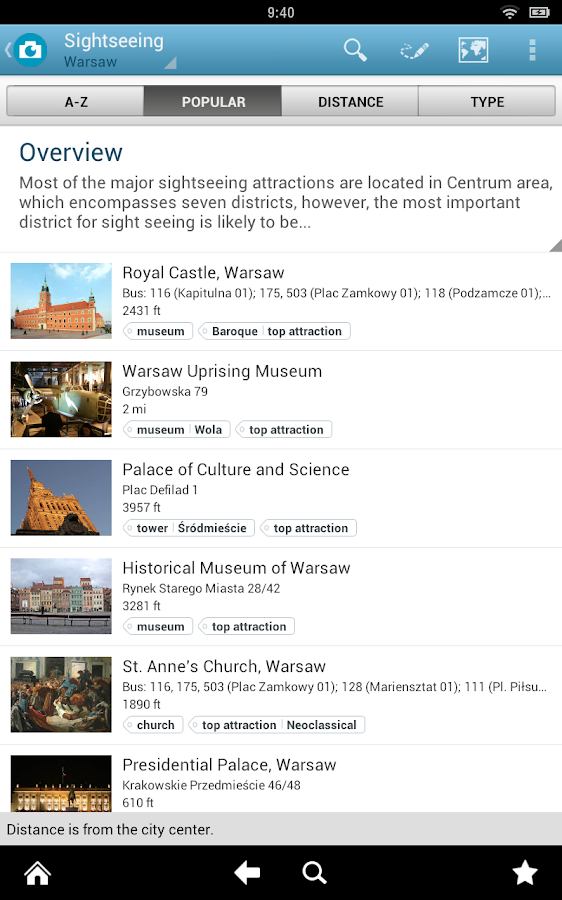 Warsaw Travel Guide- screenshot