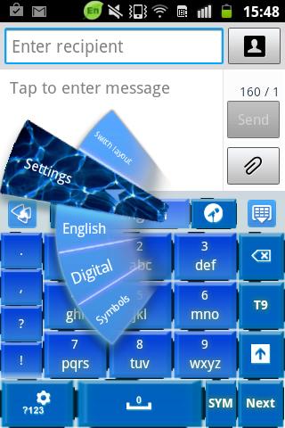 新的藍 感覺 GO鍵盤