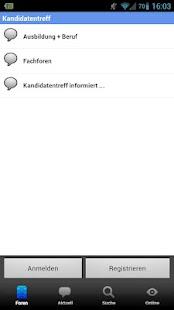 Kandidatentreff - Forum- screenshot thumbnail