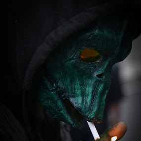 Lighting Up by VAM Photography - People Street & Candids ( cigarette, comic con, costume, lighting up, places, nyc, man )