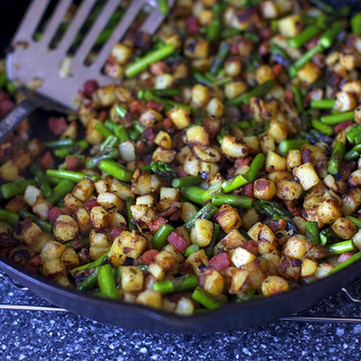 Spring Asparagus Pancetta Hash Recipe