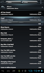 Poweramp skin Black Petrol APK screenshot thumbnail 6